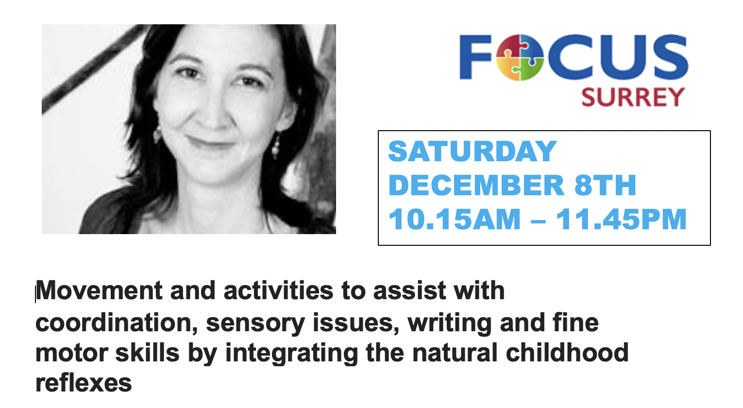 Come and meet Shelley at Focus Surrey
