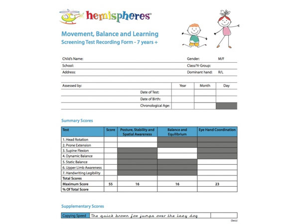 New Screening Tool and Movement Programme For Schools