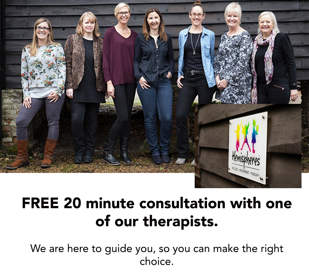 Free 20 minute consultation with one of our therapist